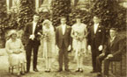 Photograph of a wedding group, circa 1926.